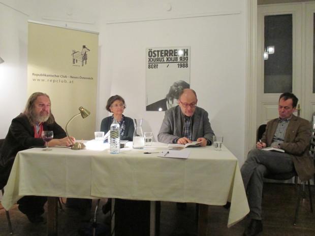 Manfred Chobot, Beatrice Simonsen, Cornelius Hell, Martin Kubaczek im RC