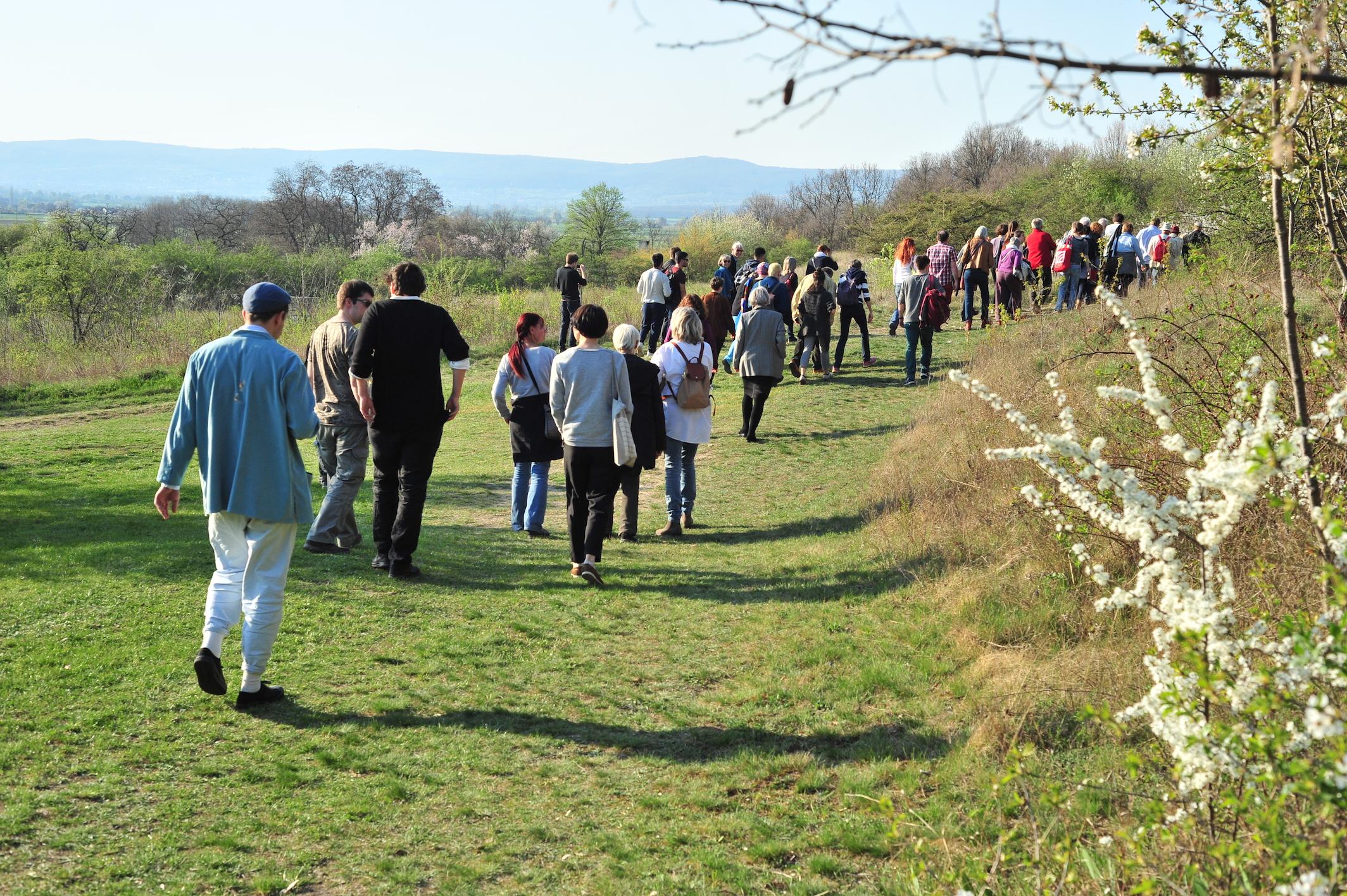 Spaziergang auf den Hügel von St. Margarethen